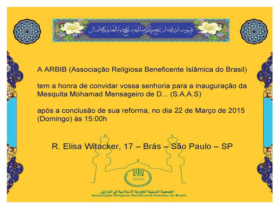 Mesquita - Convite